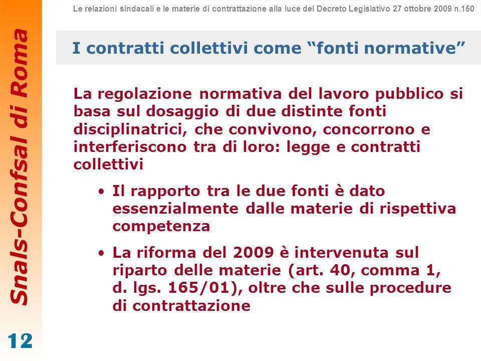I contratti collettivi come fonti normative