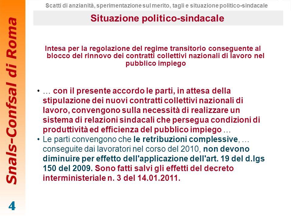 Situazione politico-sindacale