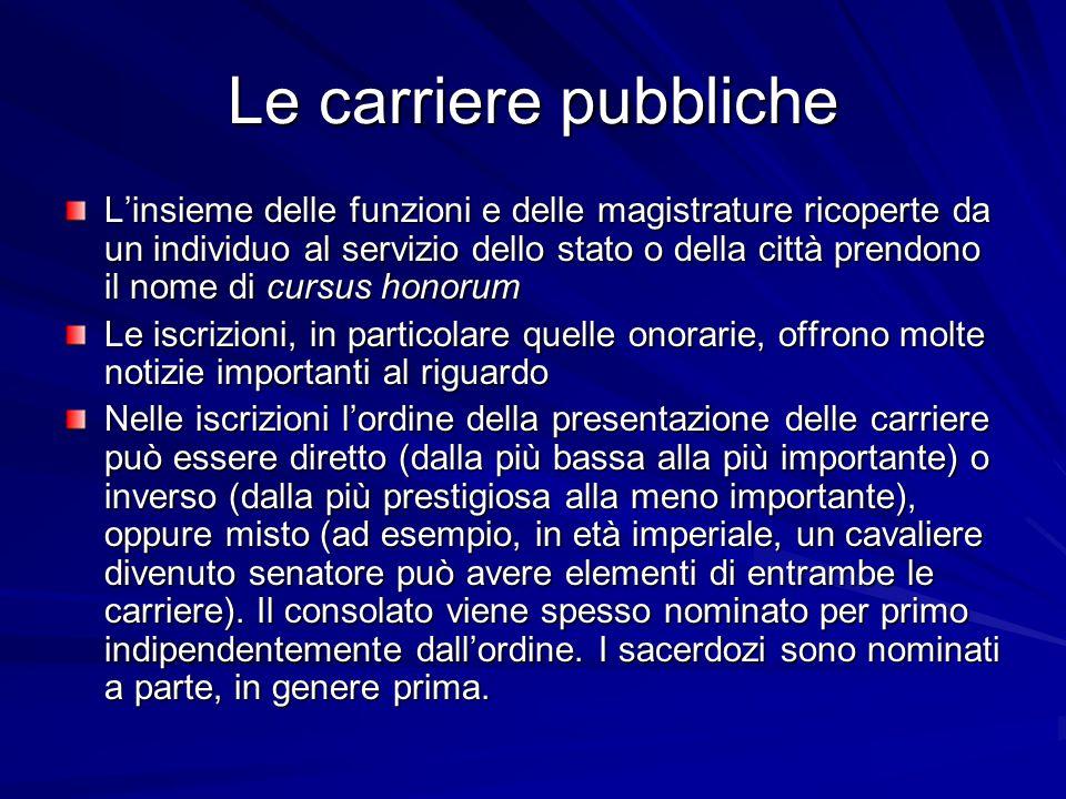Le carriere pubbliche