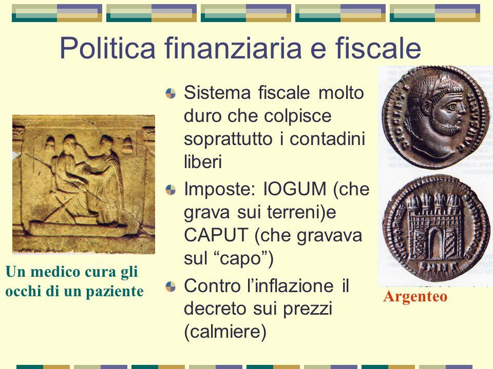 Politica finanziaria e fiscale