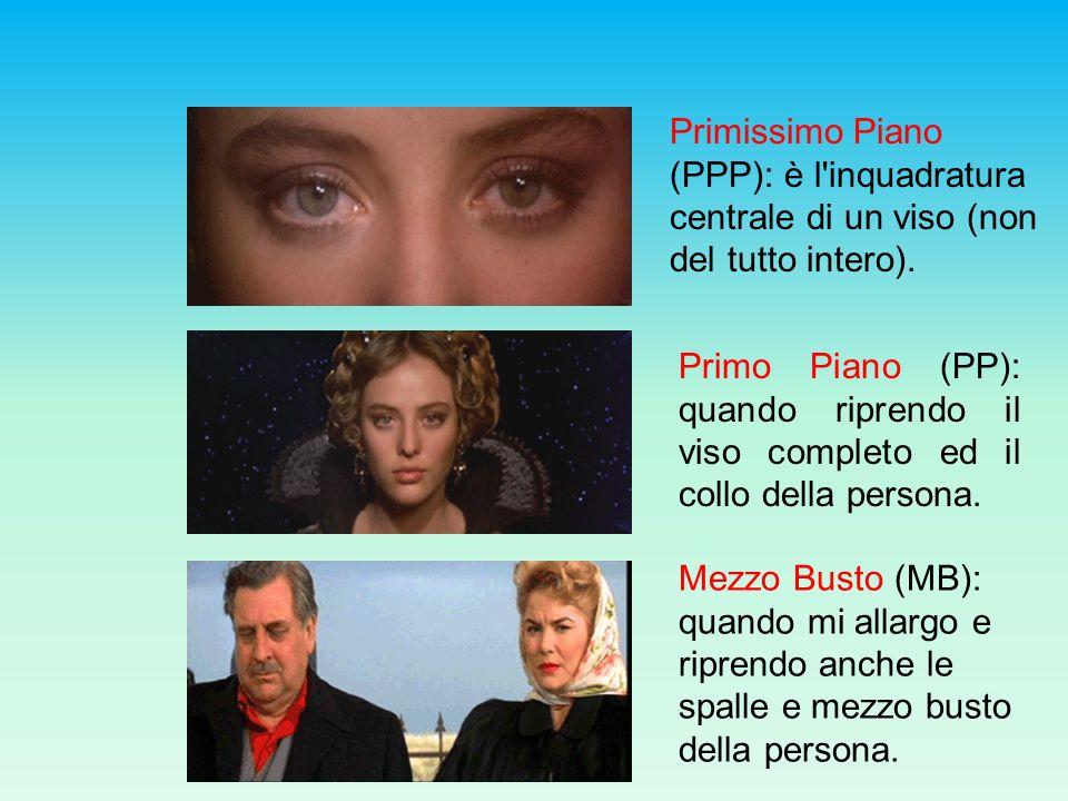 Primissimo Piano (PPP): è l inquadratura centrale di un viso (non del tutto intero).