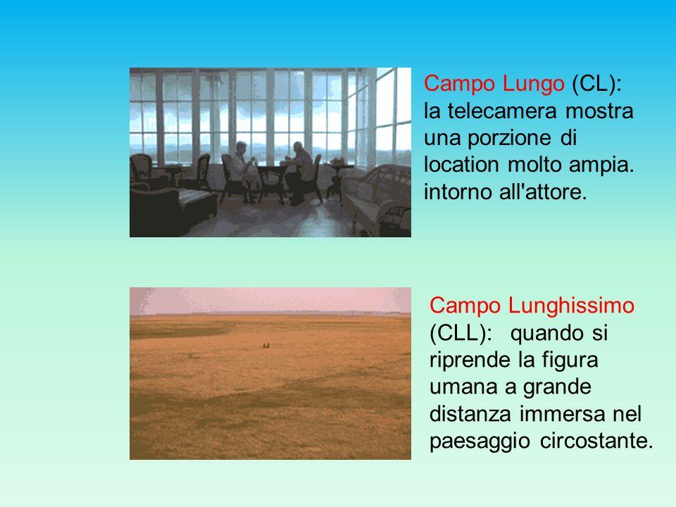 Campo Lungo (CL): la telecamera mostra una porzione di location molto ampia. intorno all attore.