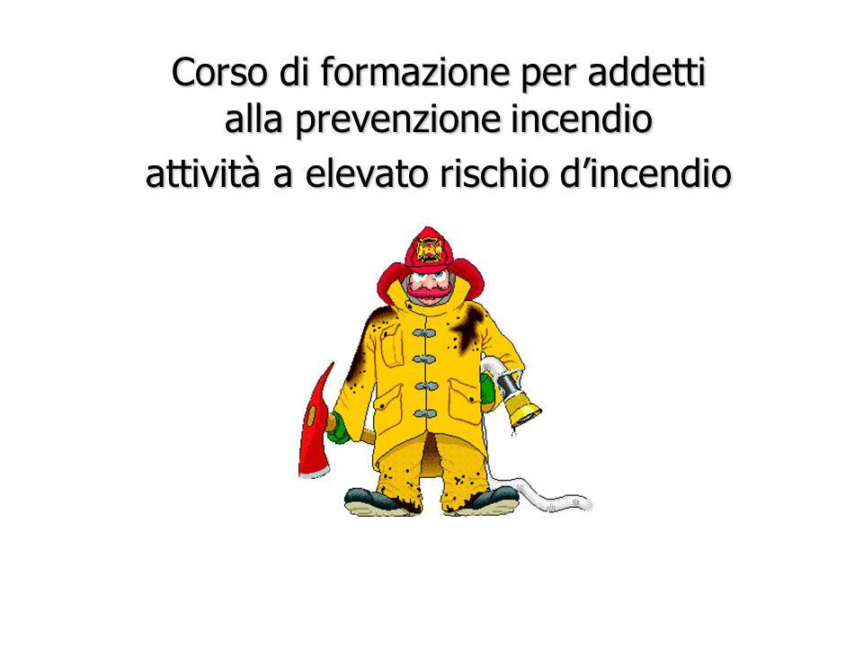 Corso di formazione per addetti alla prevenzione incendio