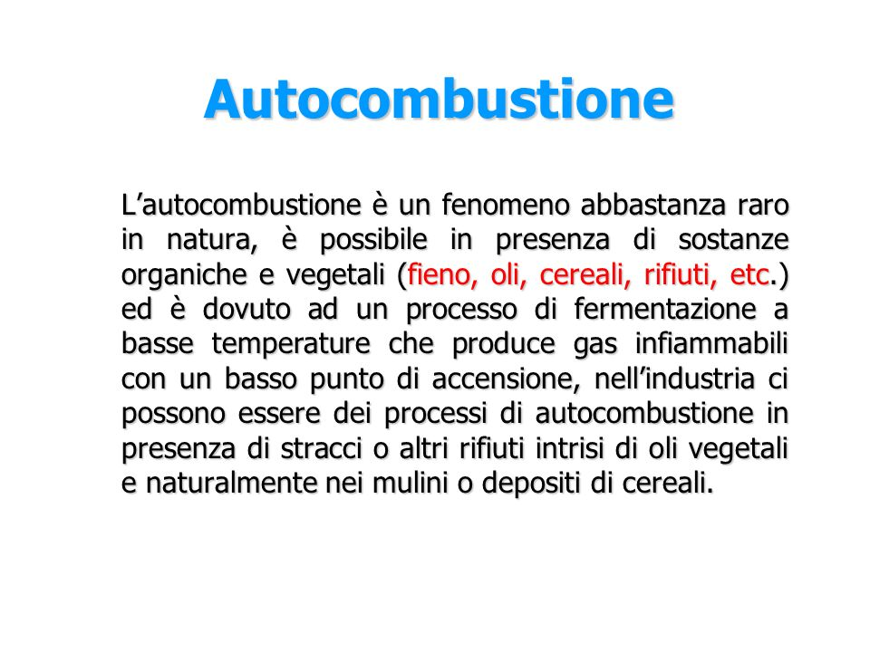 Autocombustione