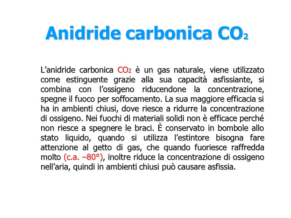 Anidride carbonica CO2