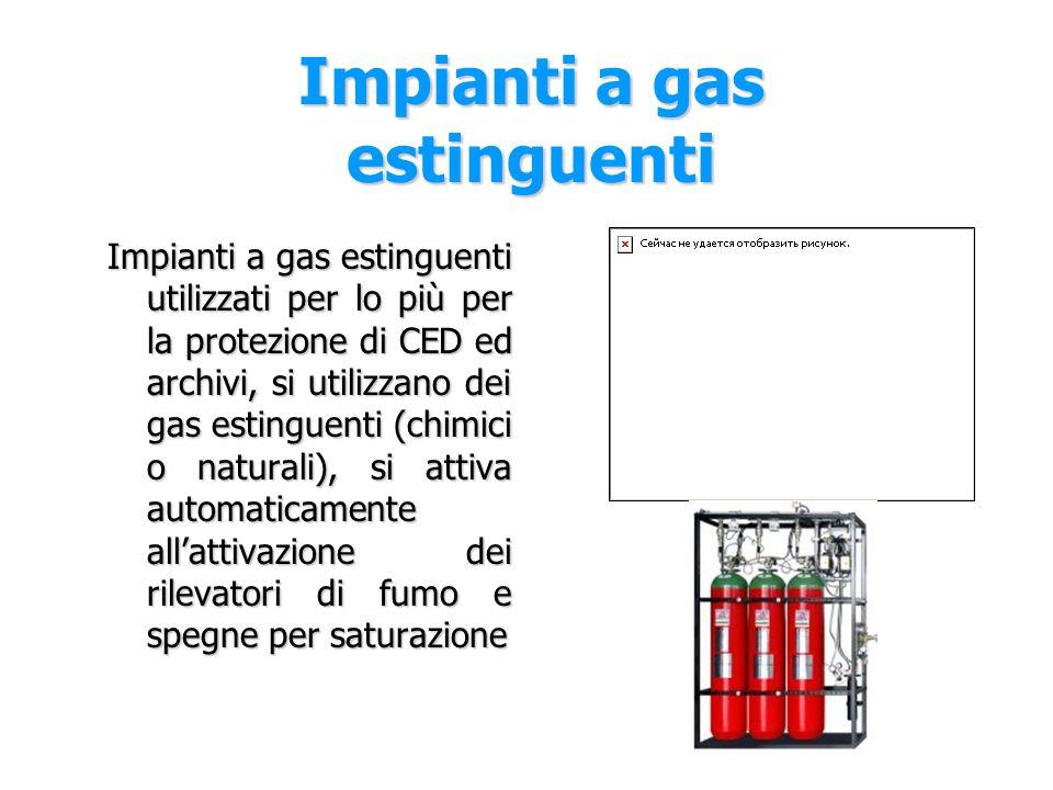 Impianti a gas estinguenti