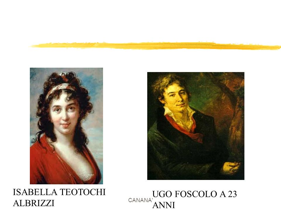 ISABELLA TEOTOCHI ALBRIZZI UGO FOSCOLO A 23 ANNI