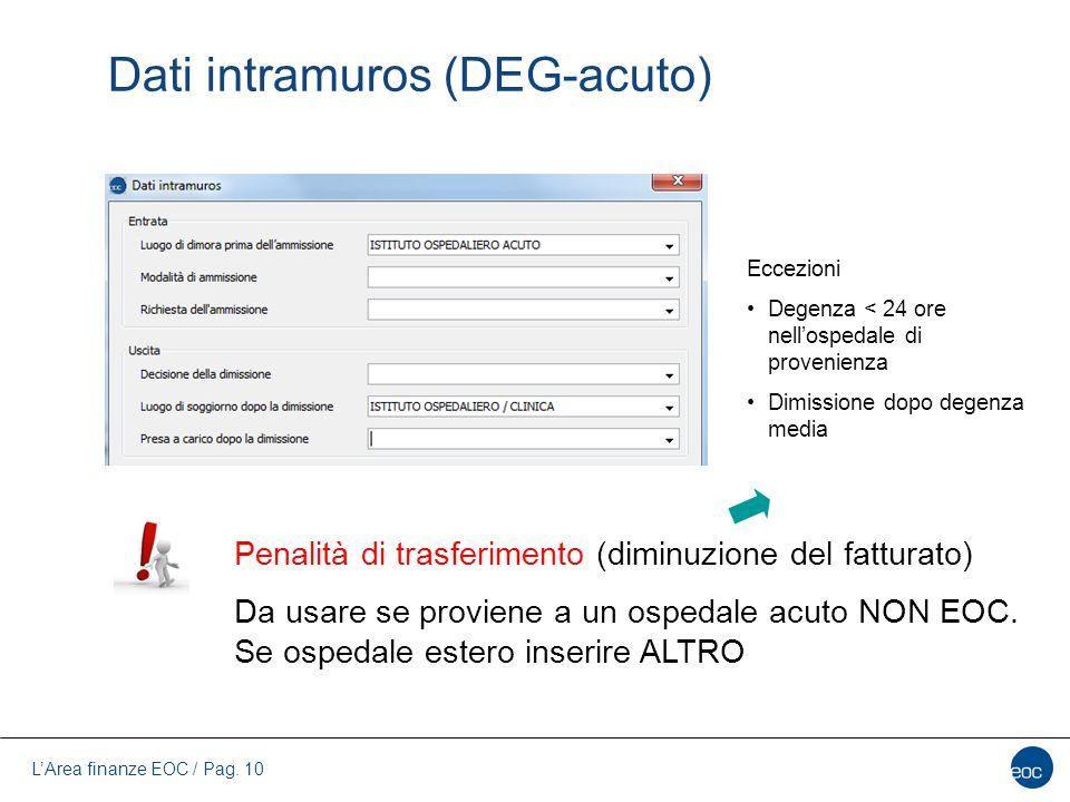 Dati intramuros (DEG-acuto)