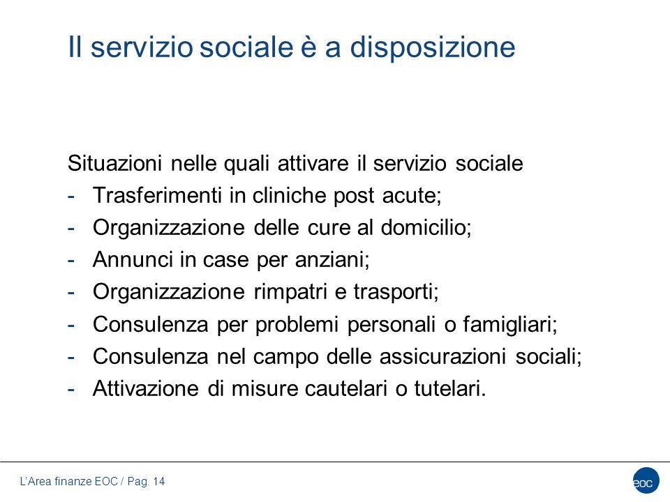 Il servizio sociale è a disposizione