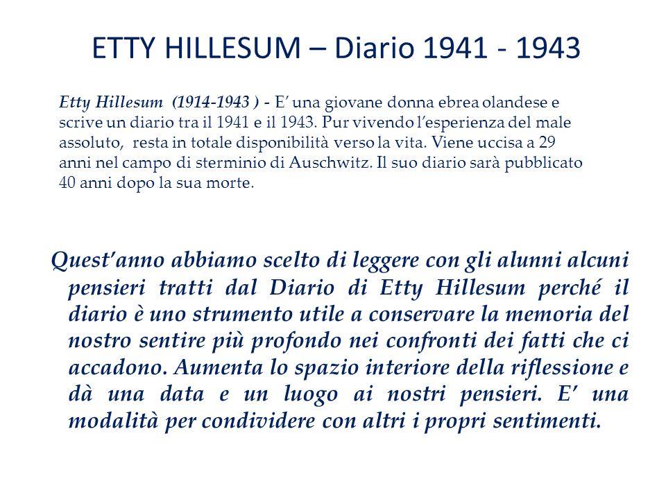 ETTY HILLESUM – Diario 1941 - 1943