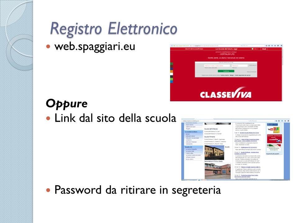 Registro Elettronico web.spaggiari.eu Oppure