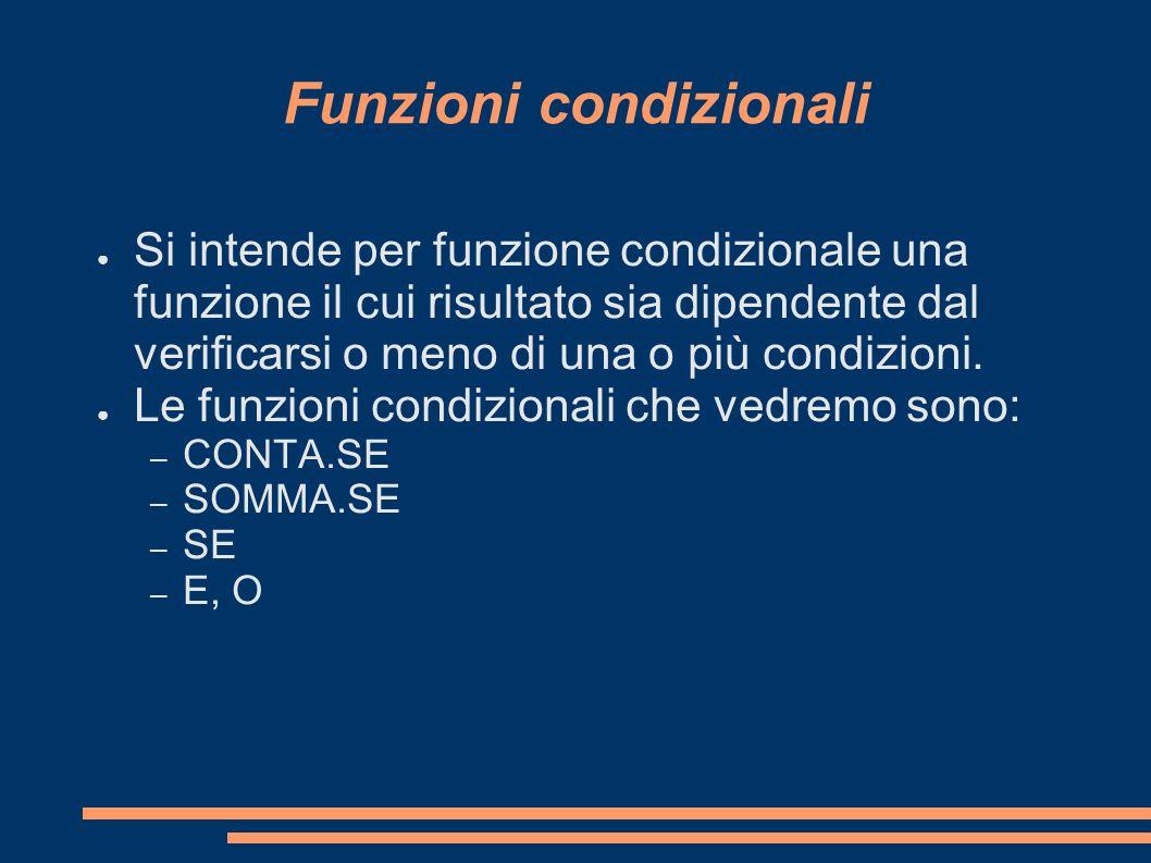 Funzioni condizionali
