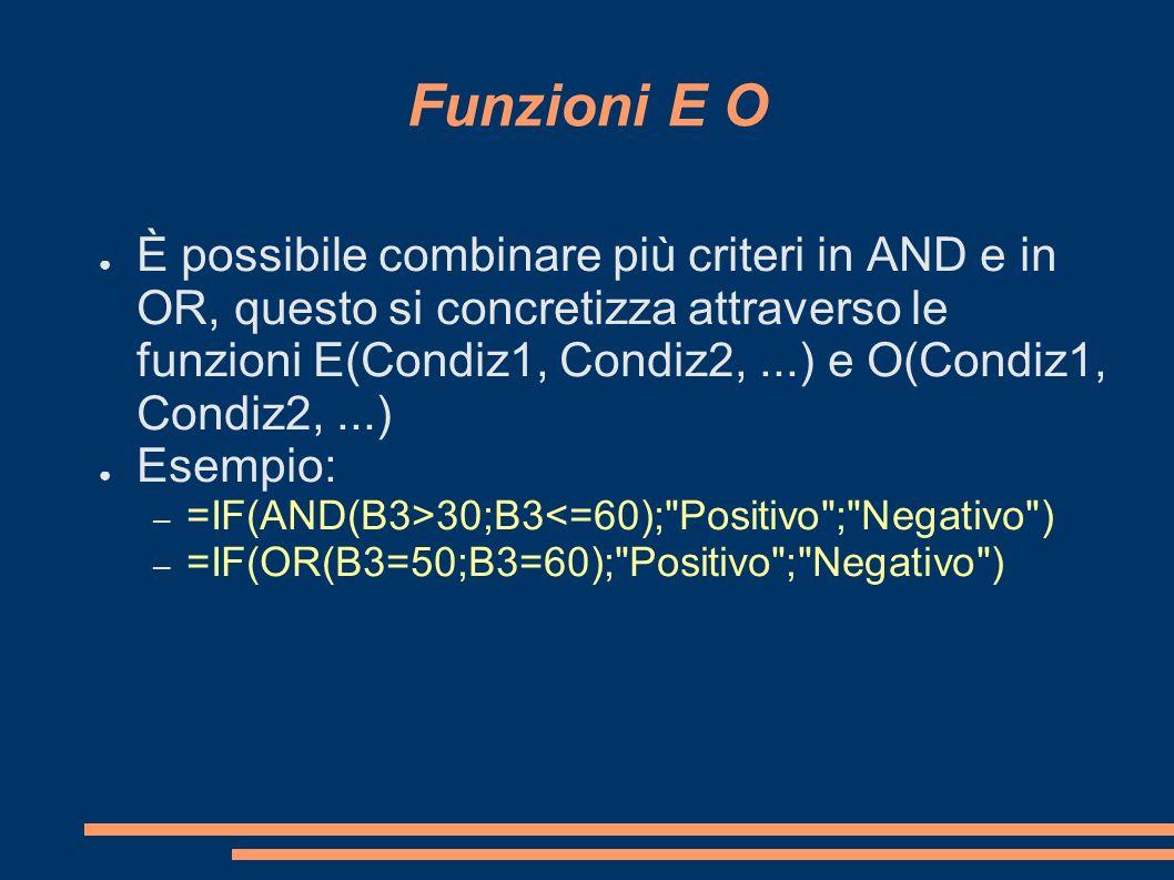 Funzioni E O