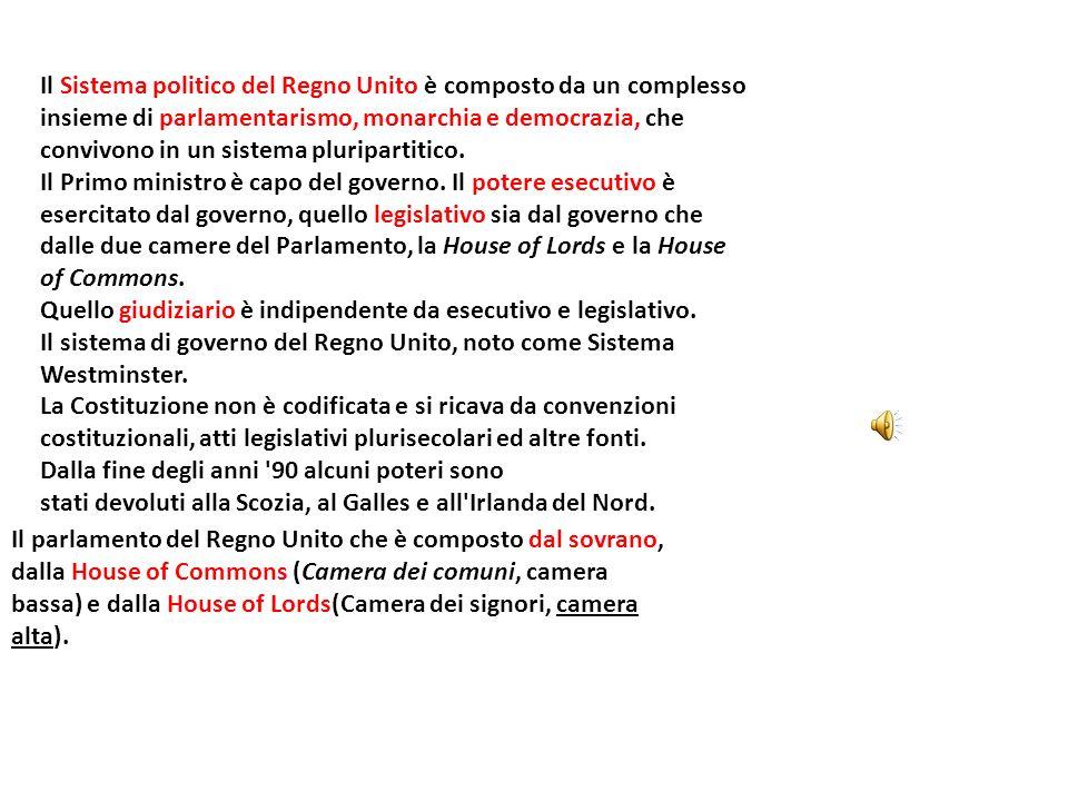 Il Sistema politico del Regno Unito è composto da un complesso insieme di parlamentarismo, monarchia e democrazia, che convivono in un sistema pluripartitico.