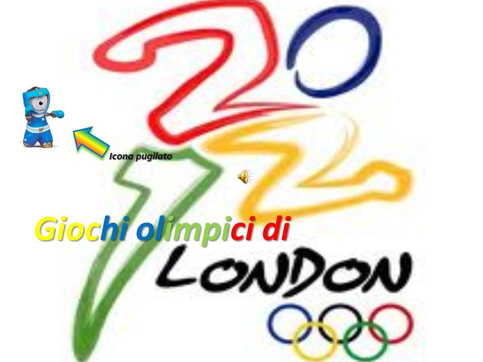 Icona pugilato Giochi olimpici di