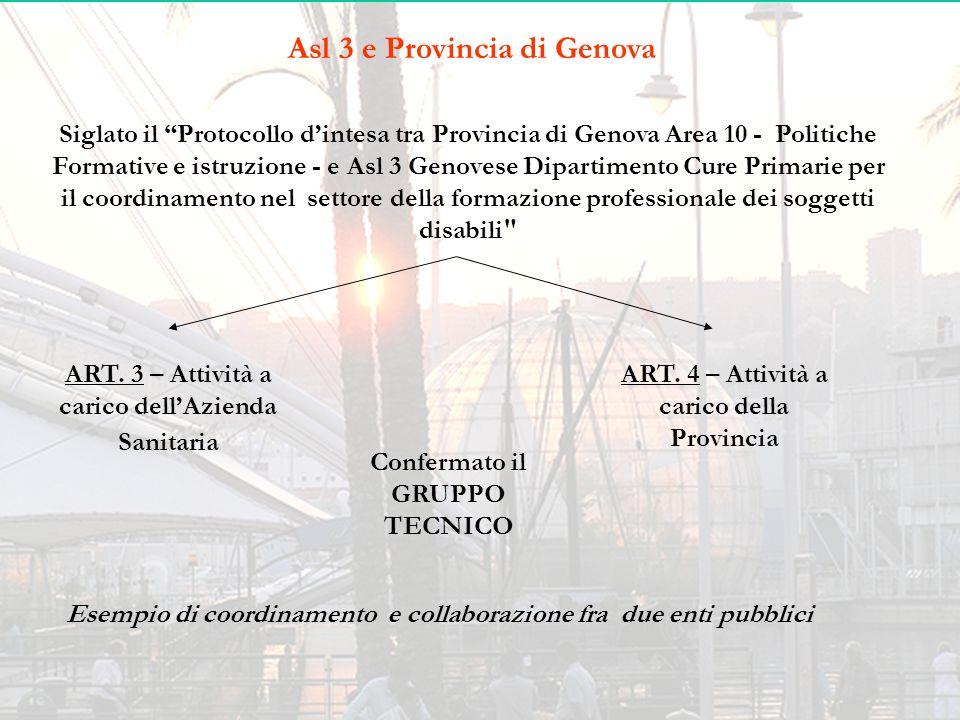 Asl 3 e Provincia di Genova