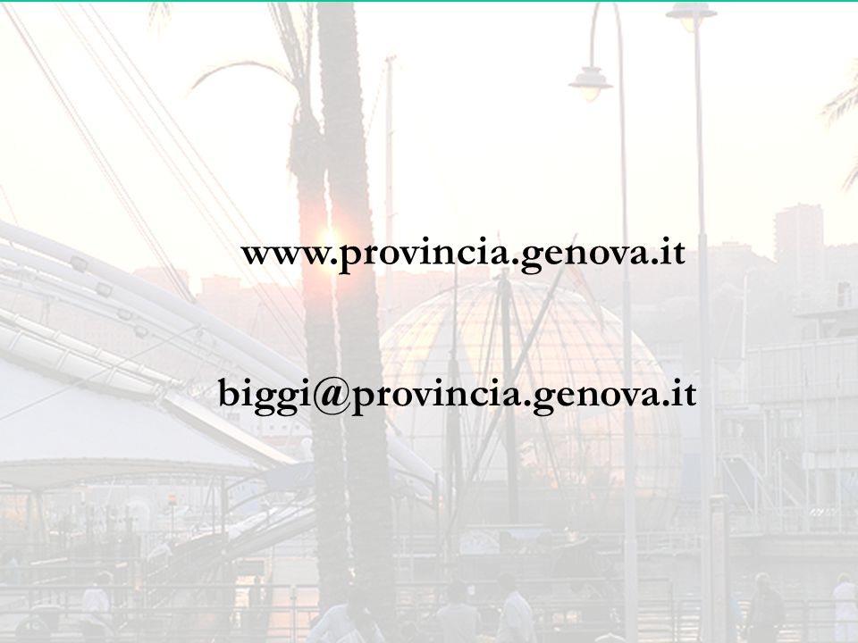www.provincia.genova.it biggi@provincia.genova.it