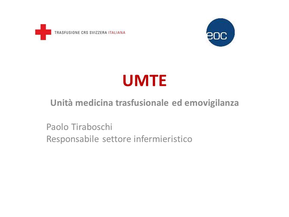 Unità medicina trasfusionale ed emovigilanza