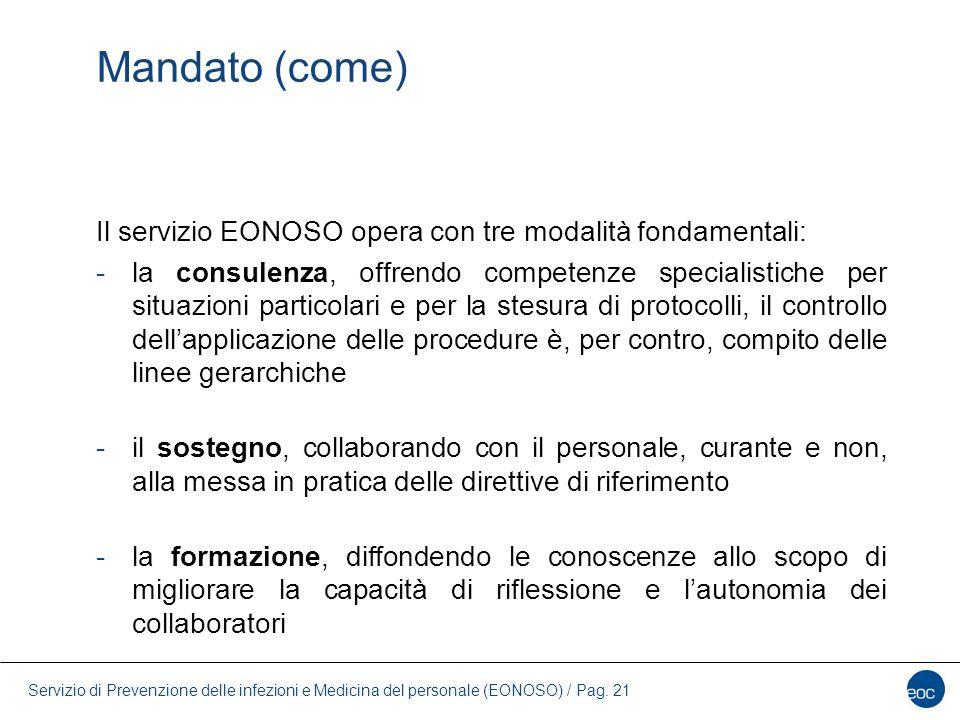 Mandato (come) Il servizio EONOSO opera con tre modalità fondamentali: