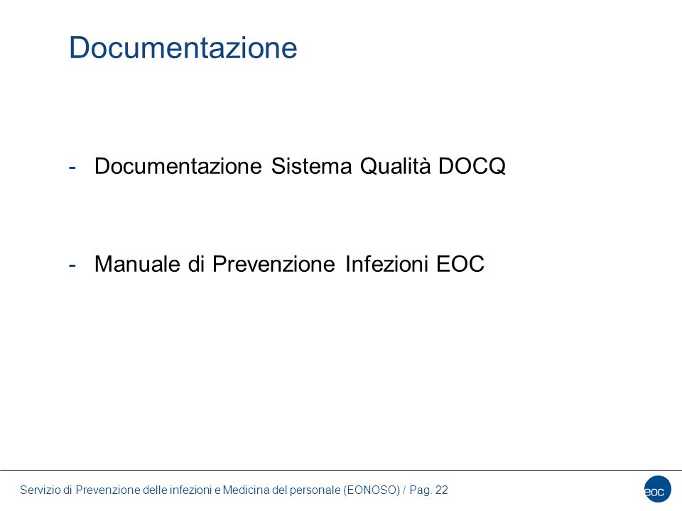 Documentazione Documentazione Sistema Qualità DOCQ