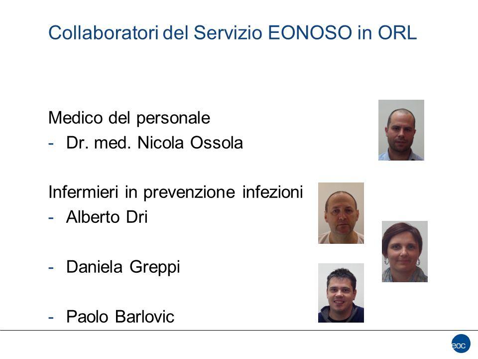 Collaboratori del Servizio EONOSO in ORL