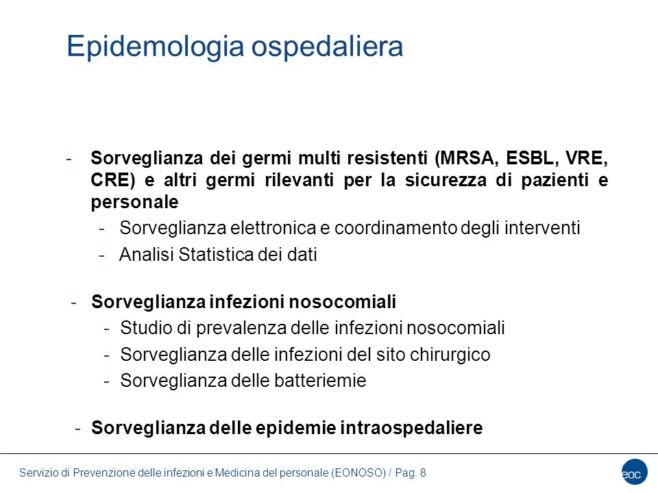 Epidemologia ospedaliera