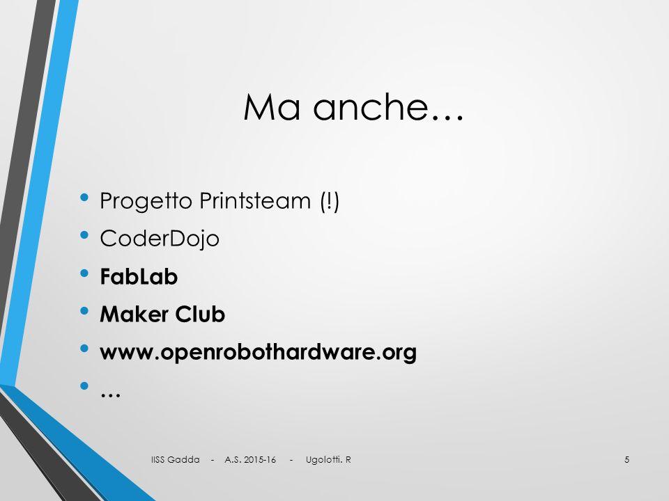 Ma anche… Progetto Printsteam (!) CoderDojo FabLab Maker Club
