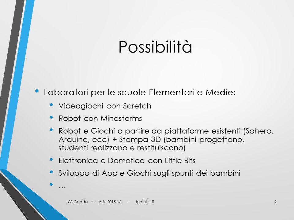 Possibilità Laboratori per le scuole Elementari e Medie: