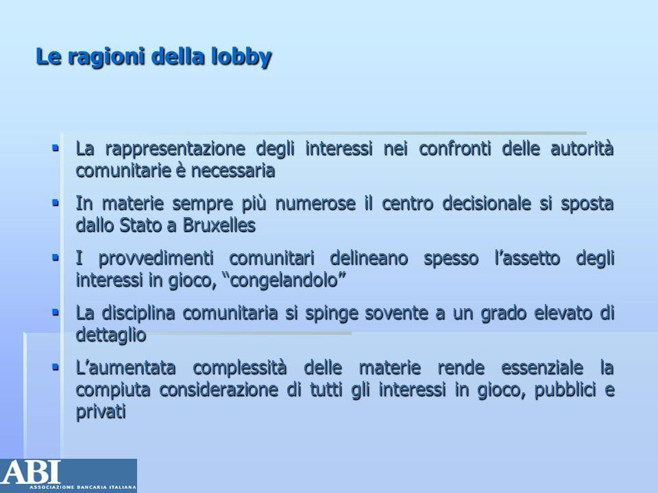 Le ragioni della lobbyLa rappresentazione degli interessi nei confronti delle autorità comunitarie è necessaria.
