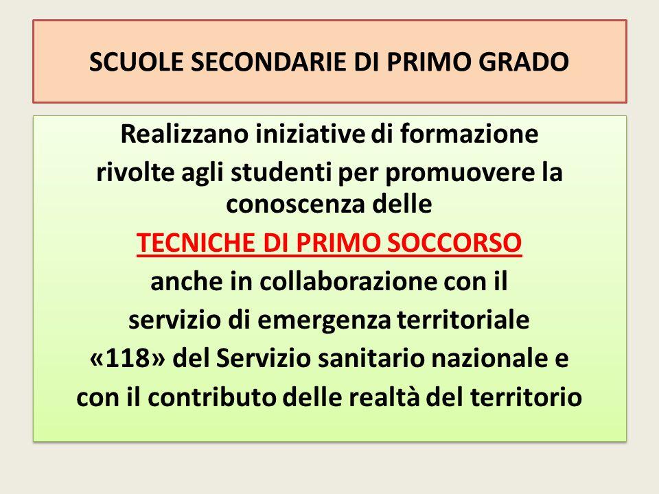 SCUOLE SECONDARIE DI PRIMO GRADO