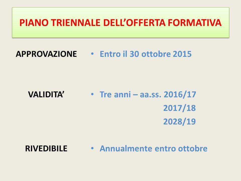 PIANO TRIENNALE DELL'OFFERTA FORMATIVA