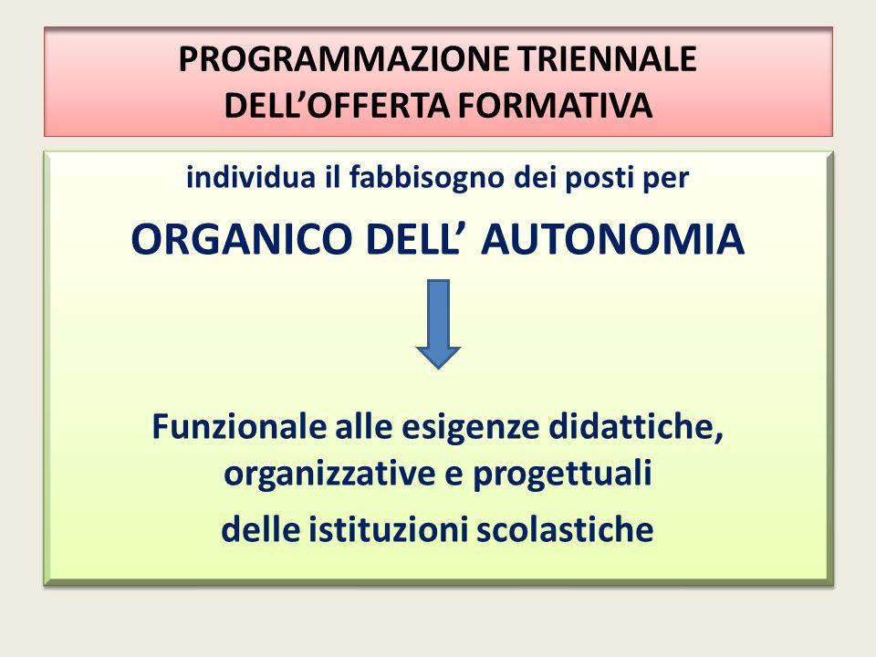 PROGRAMMAZIONE TRIENNALE DELL'OFFERTA FORMATIVA