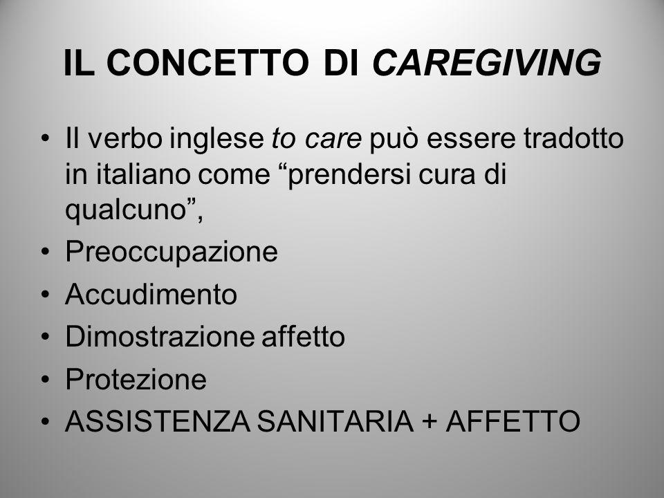 IL CONCETTO DI CAREGIVING
