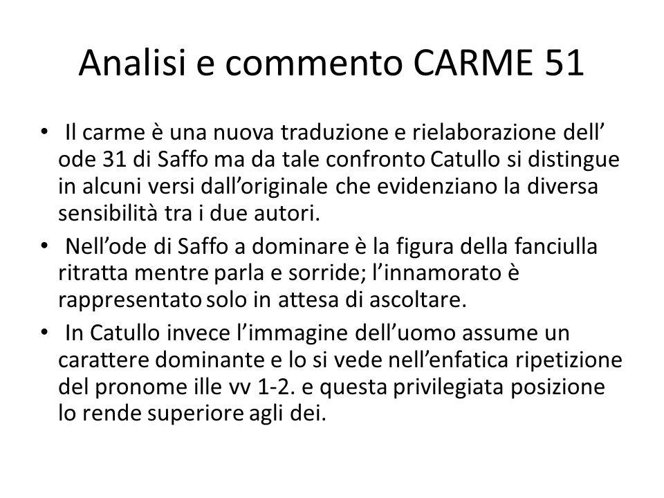 Analisi e commento CARME 51