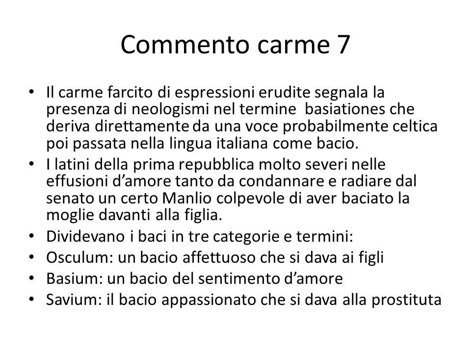 Commento carme 7