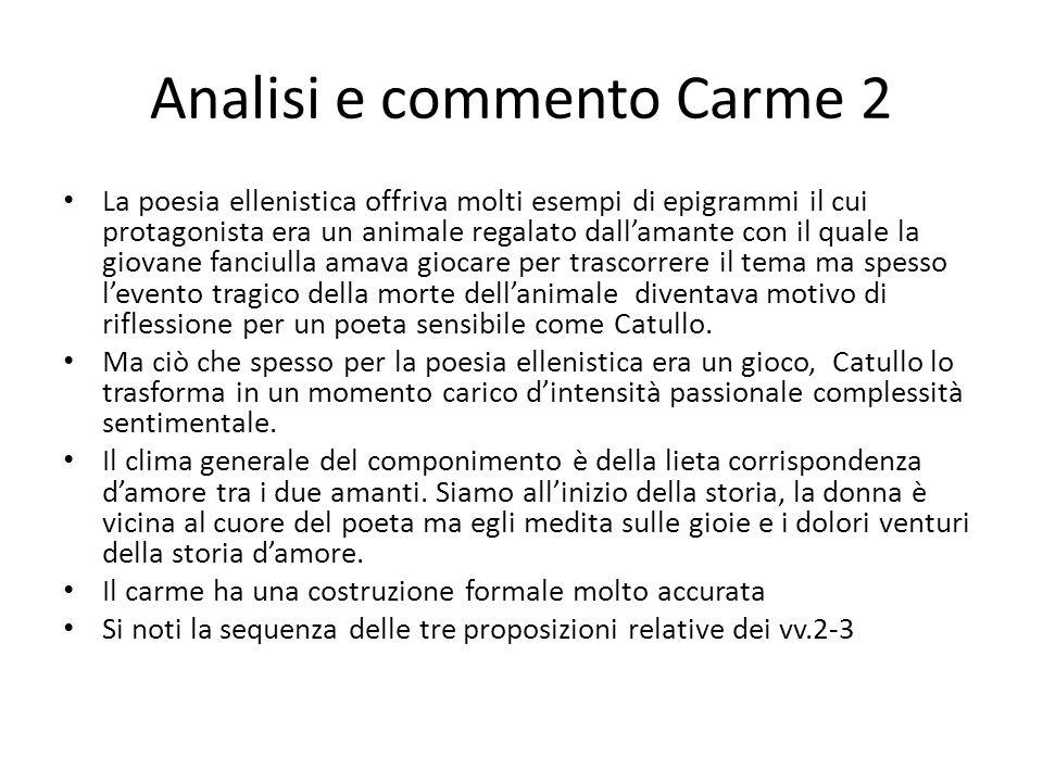 Analisi e commento Carme 2