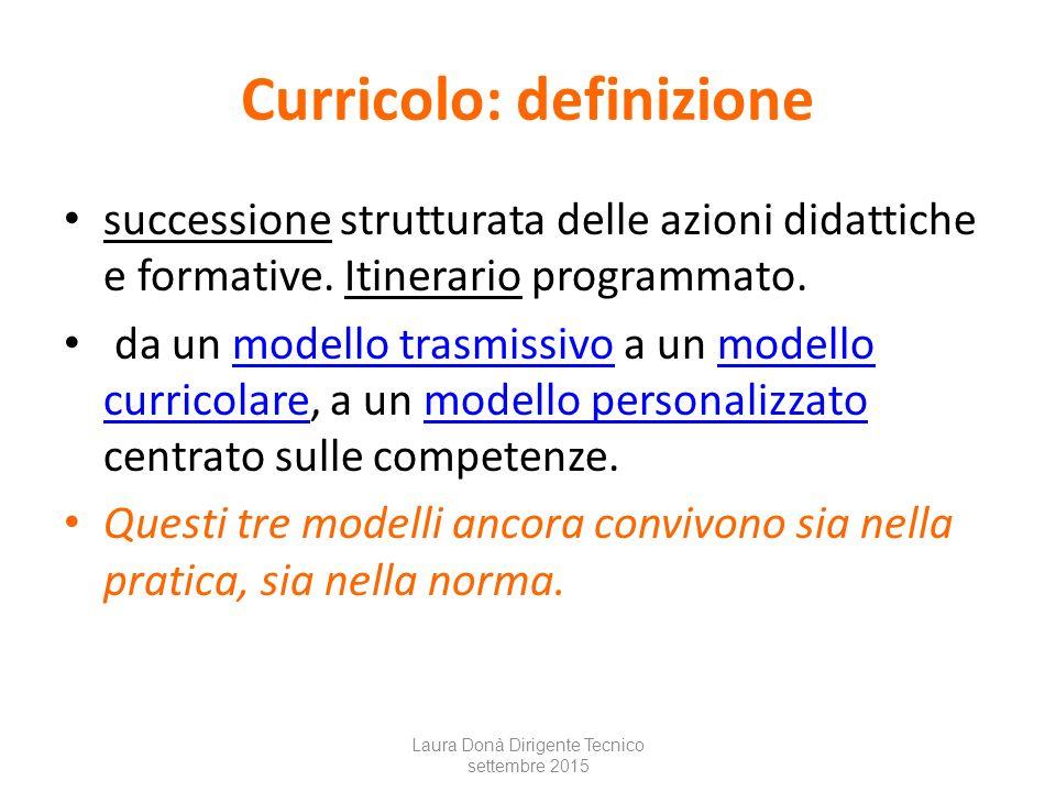 Curricolo: definizione