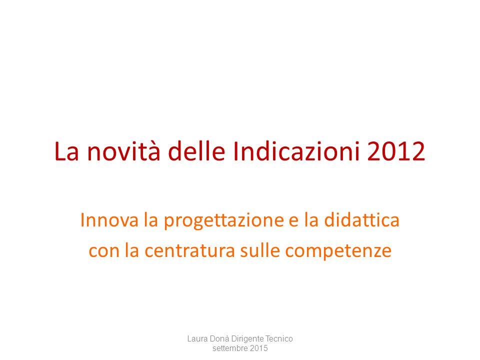 La novità delle Indicazioni 2012