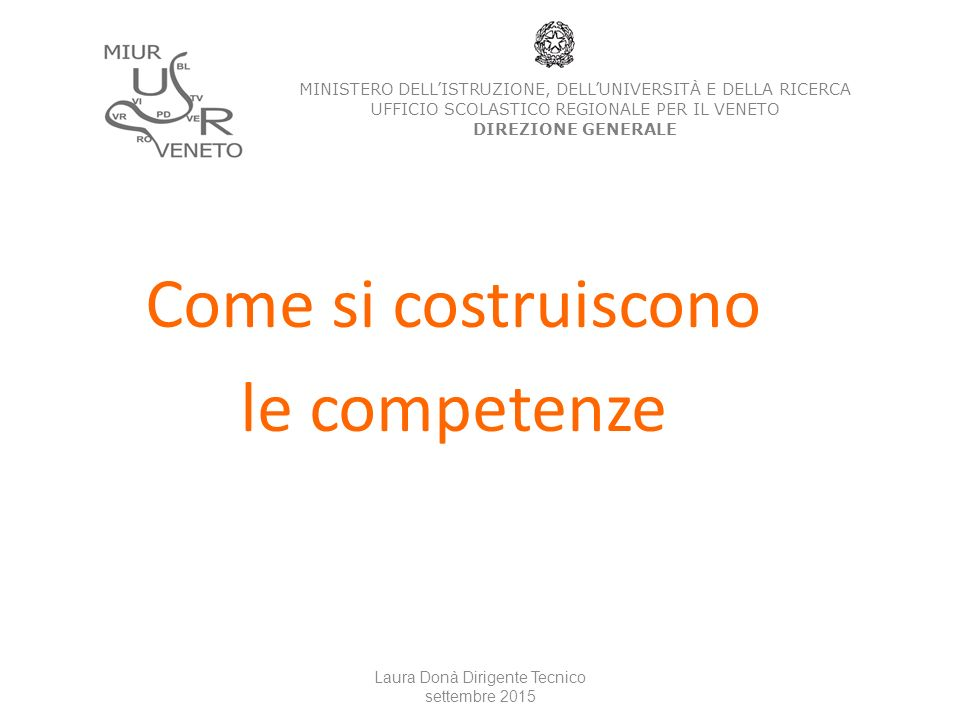 Come si costruiscono le competenze