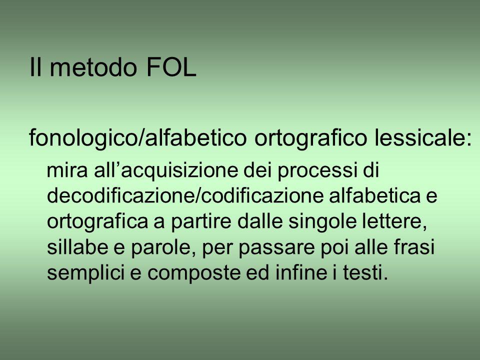 Il metodo FOL fonologico/alfabetico ortografico lessicale: