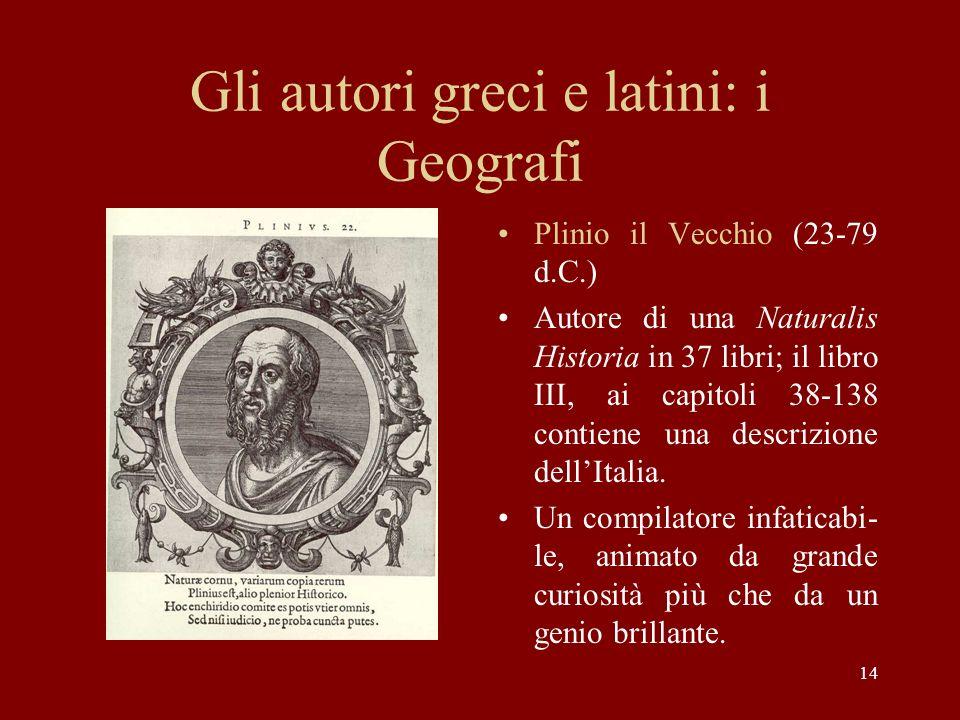 Gli autori greci e latini: i Geografi