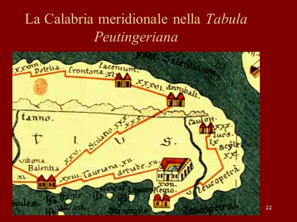 La Calabria meridionale nella Tabula Peutingeriana