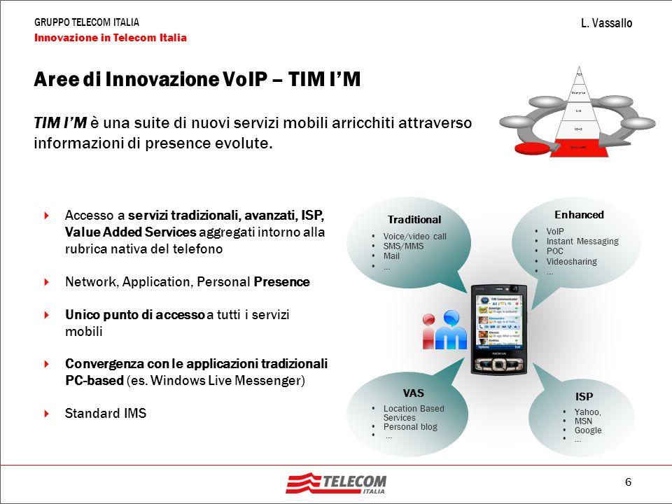 Aree di Innovazione VoIP – TIM I'M