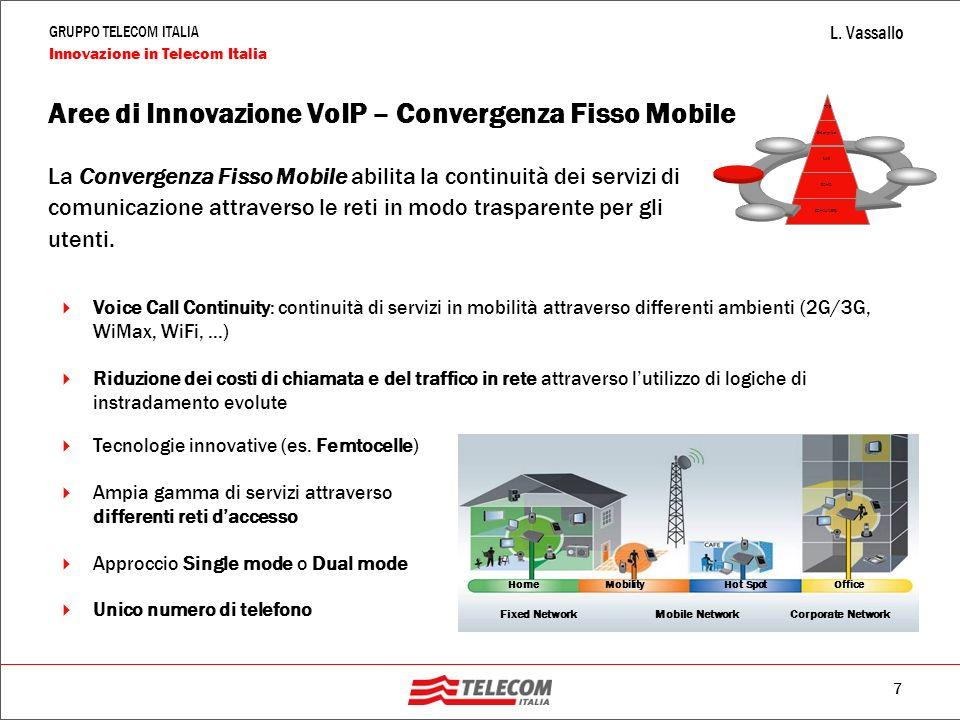 Aree di Innovazione VoIP – Convergenza Fisso Mobile