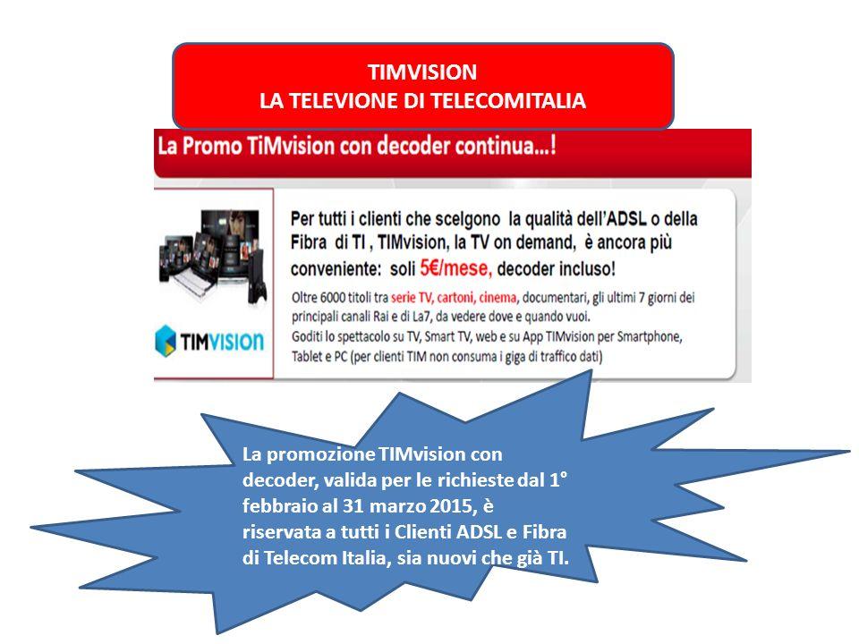 TIMVISION LA TELEVIONE DI TELECOMITALIA