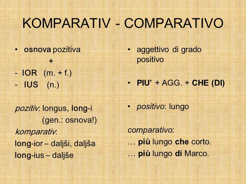 KOMPARATIV - COMPARATIVO