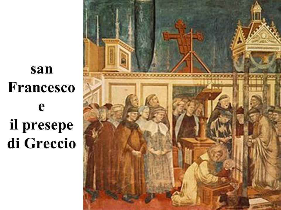 san Francesco e il presepe di Greccio