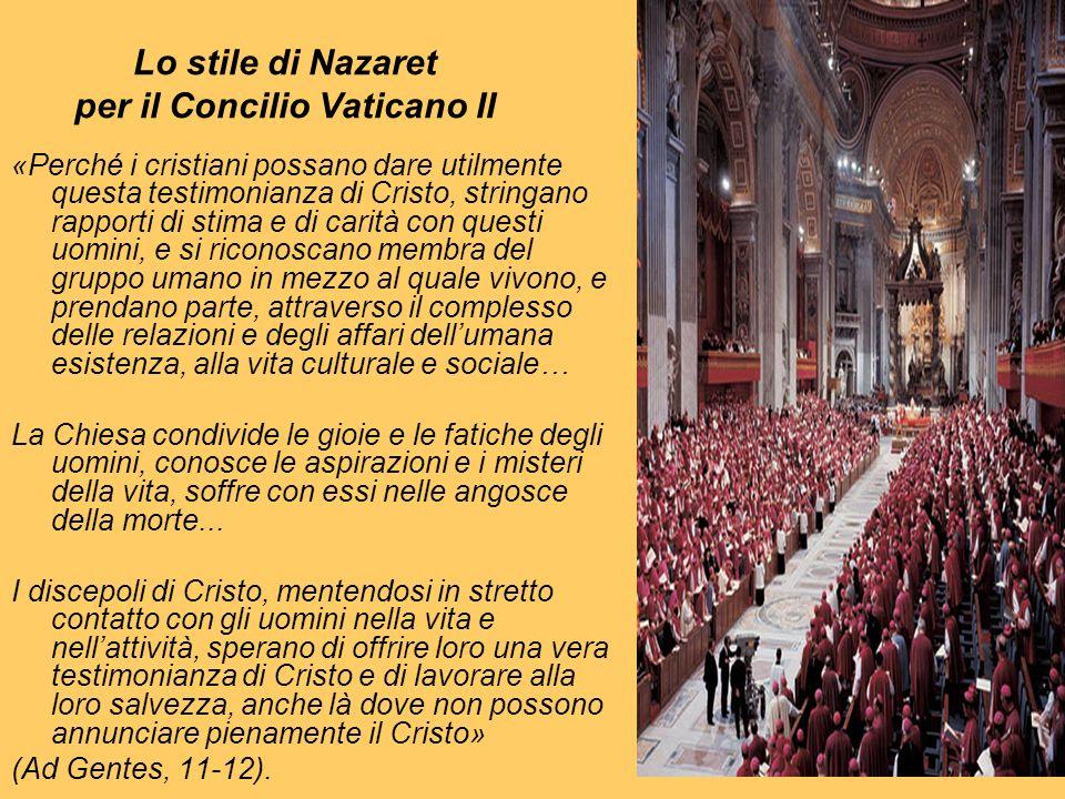 Lo stile di Nazaret per il Concilio Vaticano II