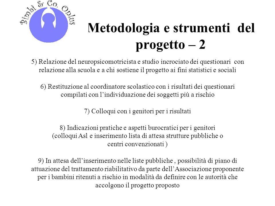 Metodologia e strumenti del progetto – 2