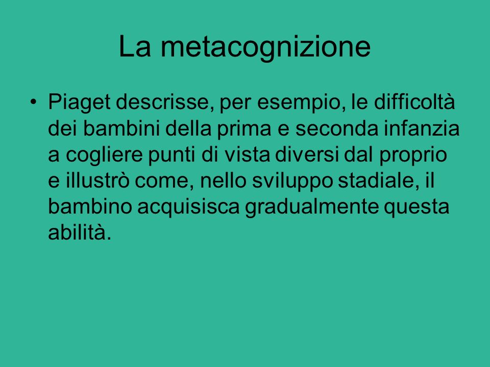 La metacognizione